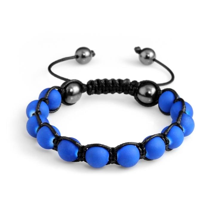 Shamballa náramek Hematite Blue Matt
