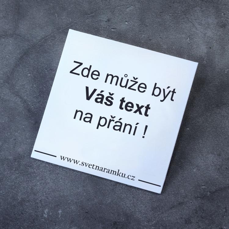 Text na přání - Dárková kartička